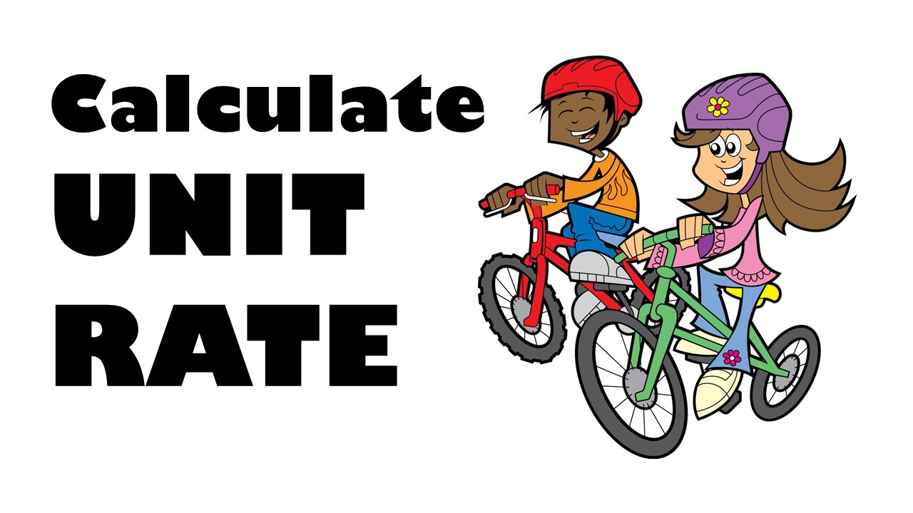 Rate Unit Rate and Clip Art